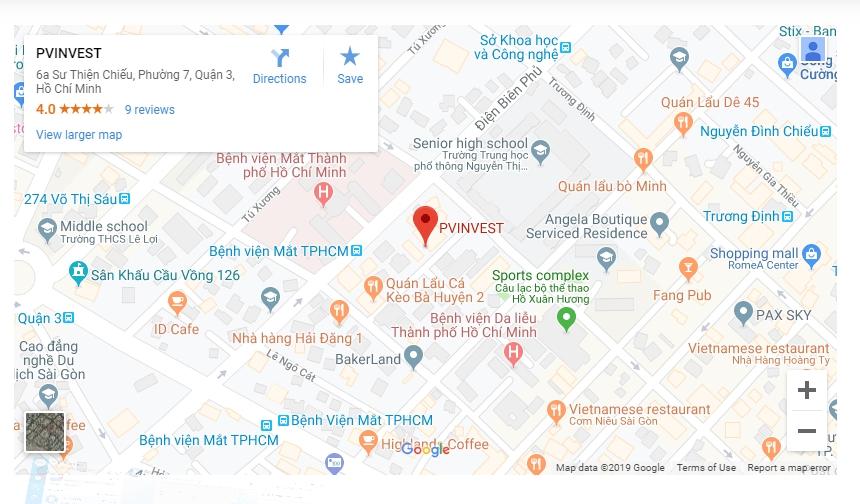 vị trí Công ty Phương Việt